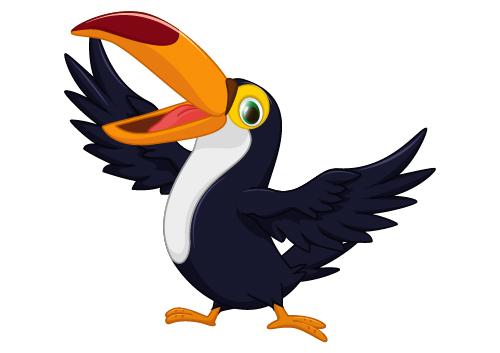 500x353 Cartoon Toucan Bird Vector 03 Free Download