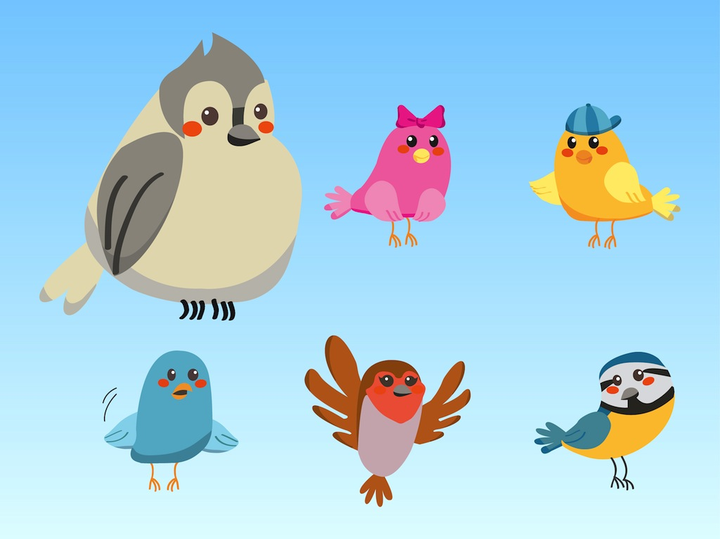 1024x767 Cute Birds Vector Art Amp Graphics