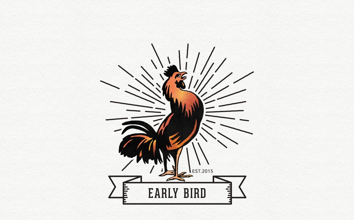 1400x869 Free Early Bird Vector Logo Designrockr