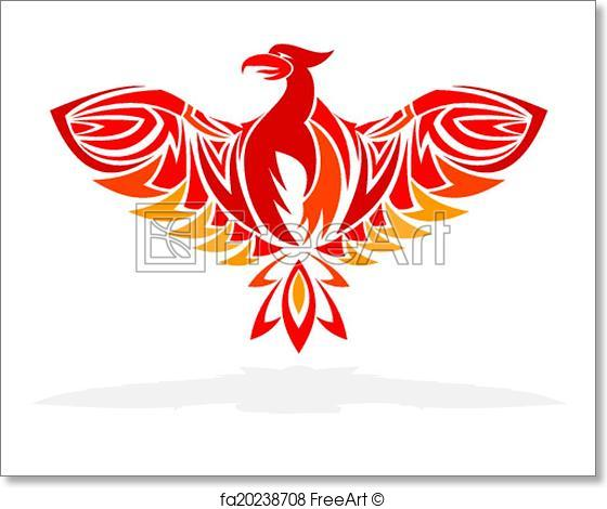 560x470 Free Art Print Of Phoenix Bird Vector Illustration Freeart