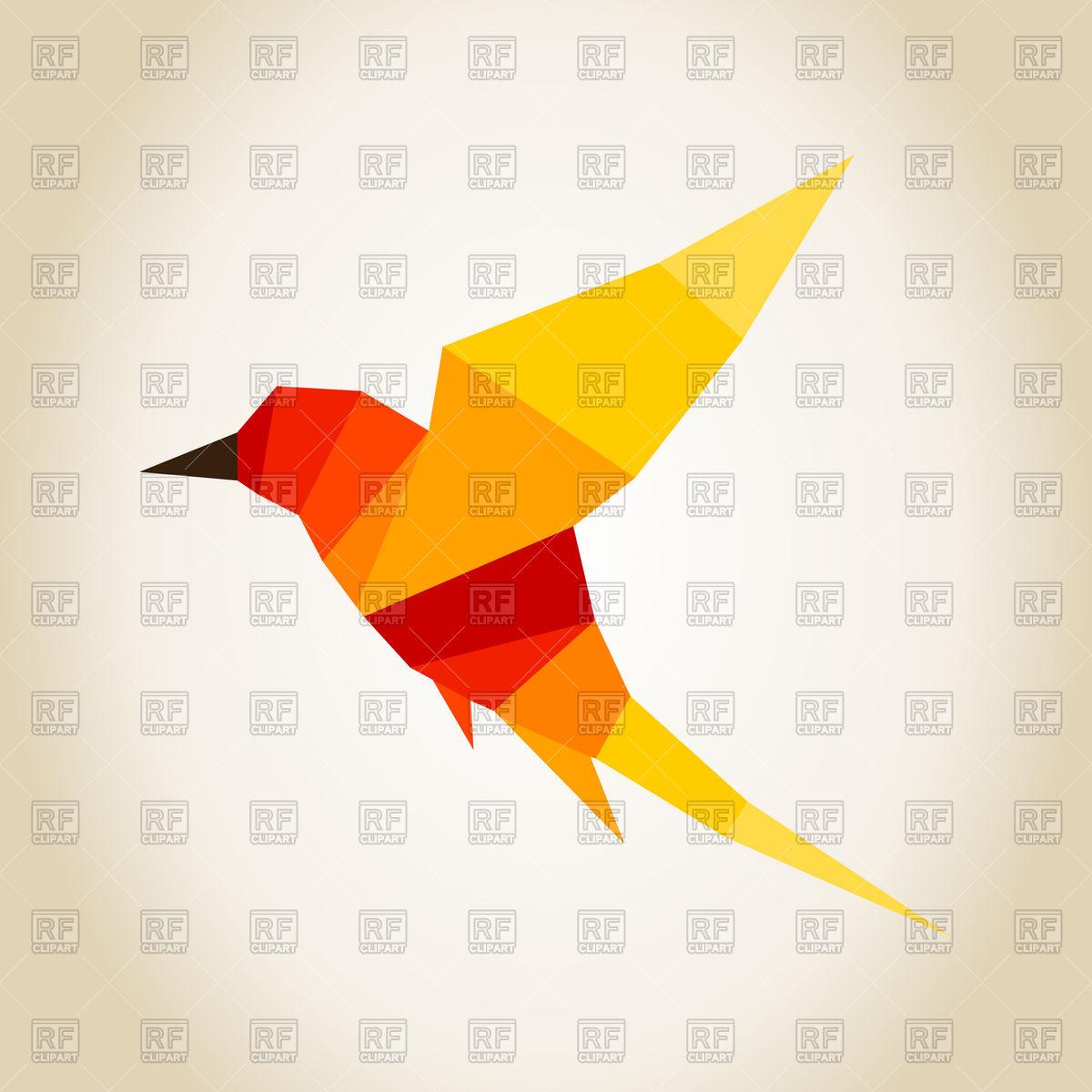 1200x1200 Orange Polygonal Bird Vector Image Vector Artwork Of Plants And