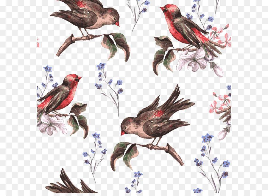 900x660 Bird Flower Euclidean Vector Illustration