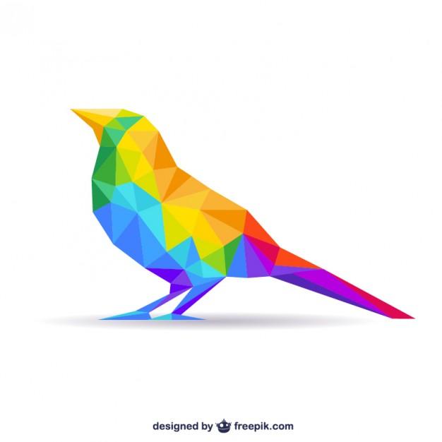 626x626 Polygonal Bird Vector Free Download