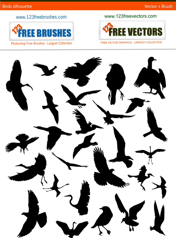 598x805 Bird Silhouette Free Pack By 123freevectors