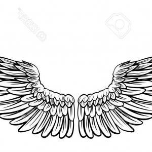 cb55d286c 300x300 Photostock Vector Gold Bird Wings Vector Logo Vector Golden Angel
