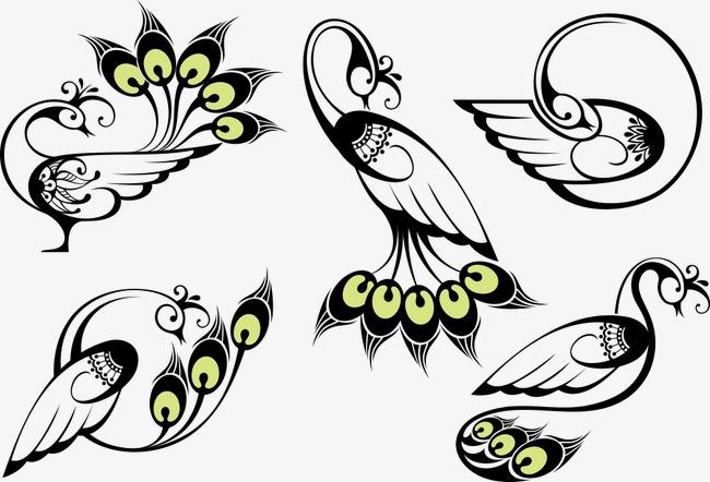 650x442 Vector Black Bird Wings, Black Vector, Bird Vector, Wings Vector