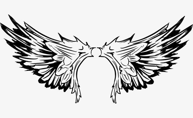 650x400 Vector Tattoo Bird Wings Of The Pro, Tattoo Vector, Bird Vector