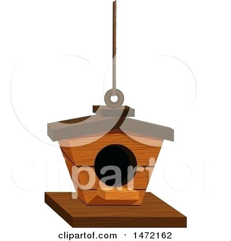 450x470 Bird Feeder Clip Art Of A Wood Bird House Royalty Free Vector