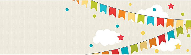 800x231 Cute Birthday Banner, Cute Birthday Banner Vector Material