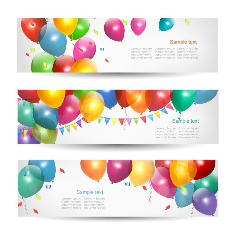 800x805 Happy Birthday Banner Vector Free Vector Graphic Download