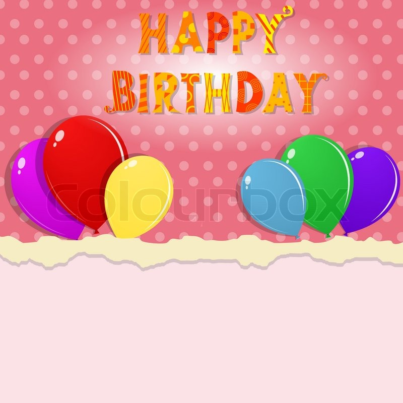 800x800 Happy Birthday Banner Stock Vector Colourbox