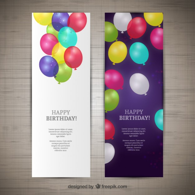 626x626 Happy Birthday Banners Vector Free Download