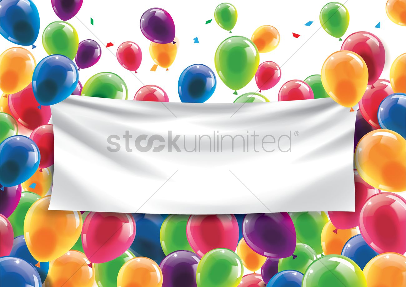1300x919 Happy Birthday Concept With An Empty Banner Vector Image