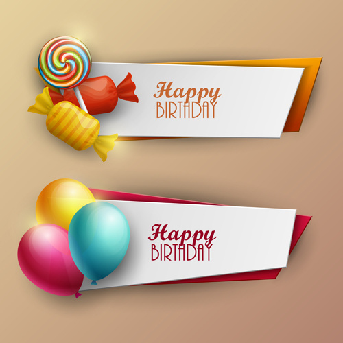 500x500 Sweet With Birthday Banner Vector Free Vector In Encapsulated