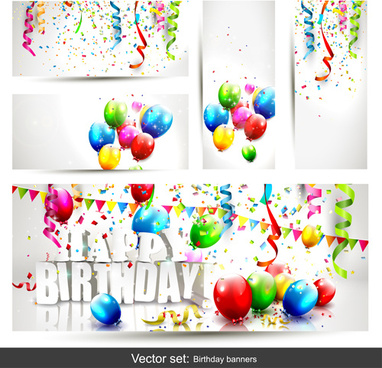 382x368 Birthday Banner Free Vector Download (10,534 Free Vector) For