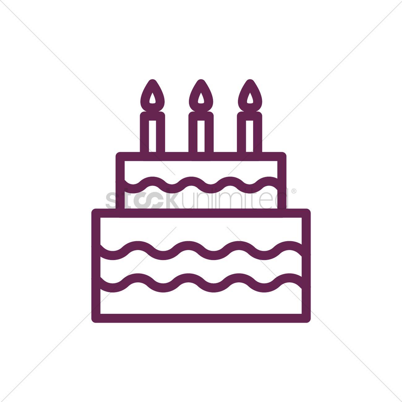 1300x1300 Birthday Cake Vector Image