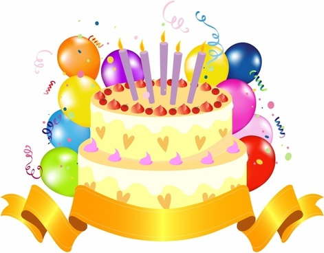 471x368 Birthday Cake Free Vector Download (1,656 Free Vector) For
