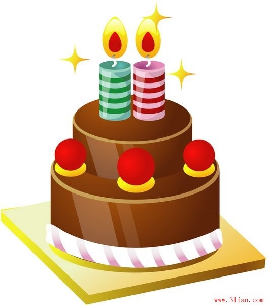 528x599 Birthday Cake Vector Free Vector In Adobe Illustrator Ai ( .ai