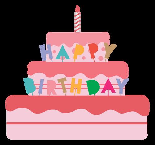 500x468 Birthday Cake Vector Illustration Public Domain Vectors