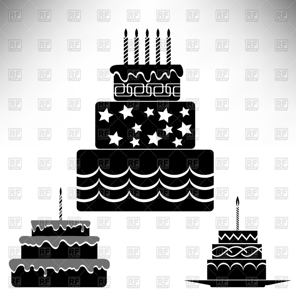 1200x1200 Birthday Cakes Vector Image Vector Artwork Of Food And Beverages
