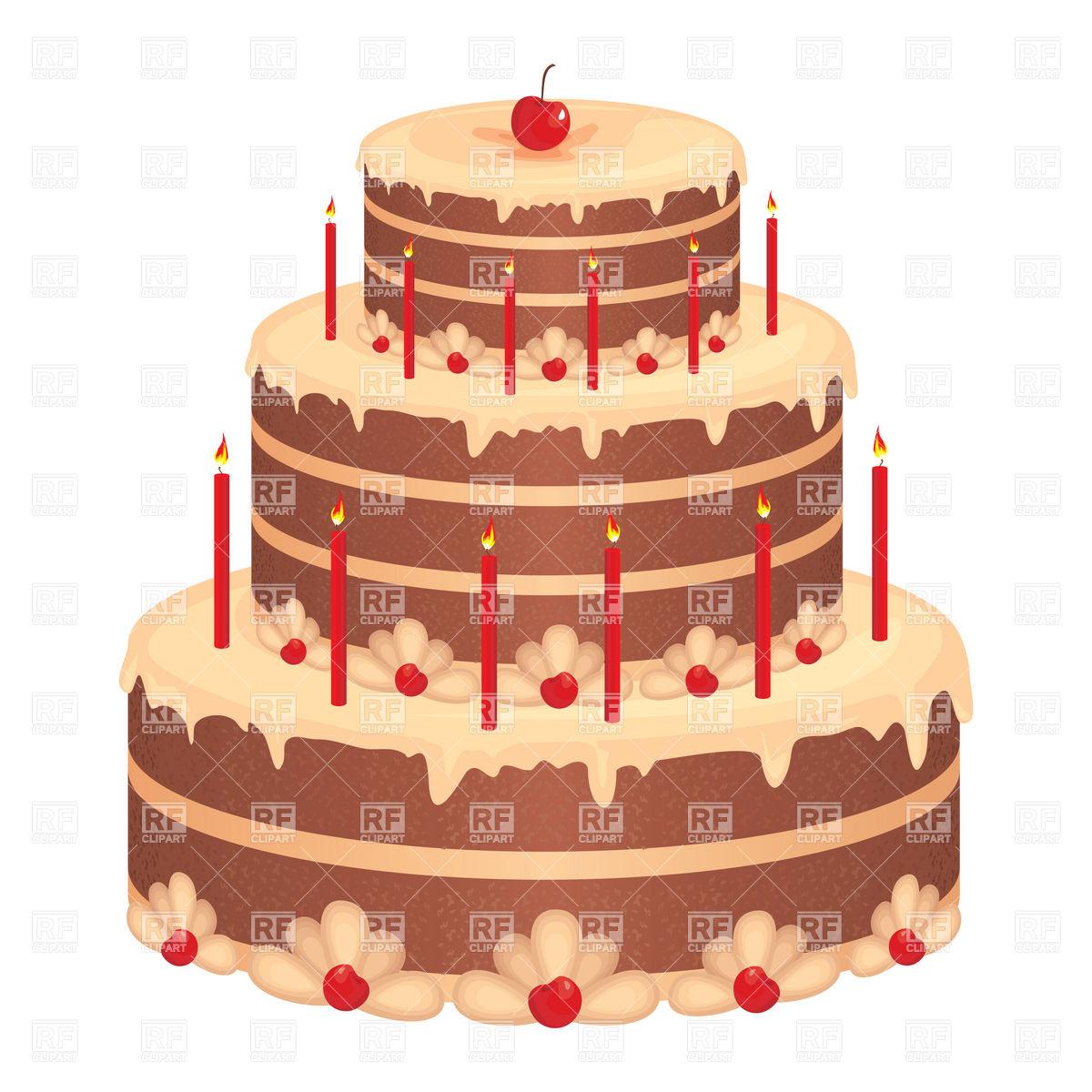 1200x1200 Big Birthday Cake Vector Image Vector Artwork Of Food And