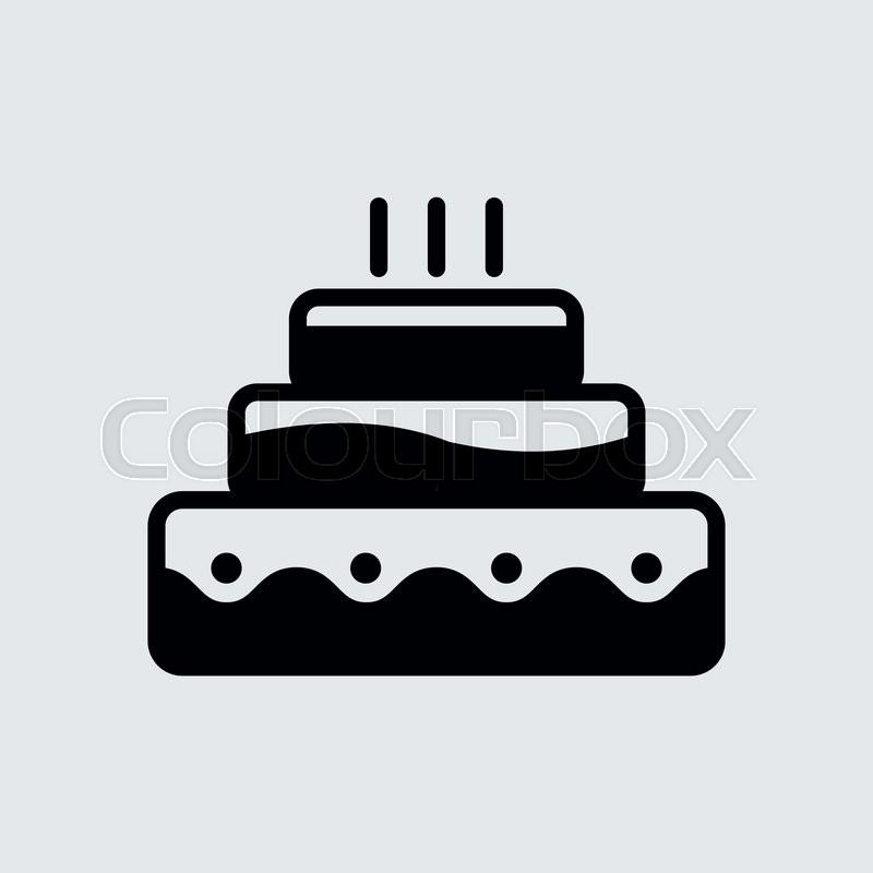 800x800 Happy Birthday Cake.vector Illustration. Stock Vector Colourbox