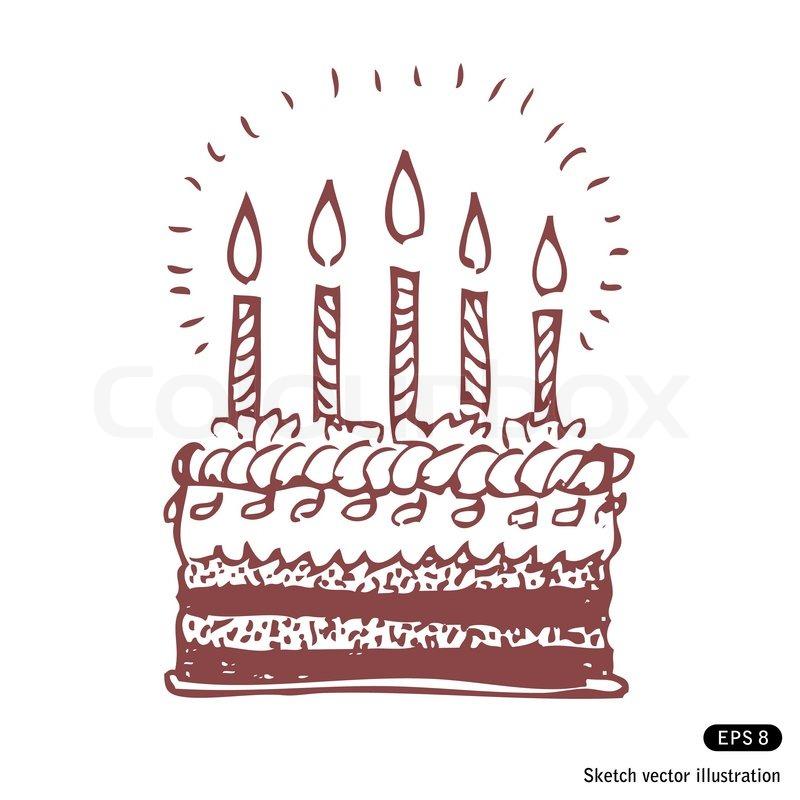 800x800 Happy Birthday Cake Stock Vector Colourbox