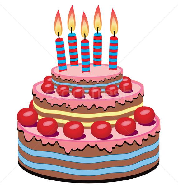 572x600 Vector Birthday Cake Vector Illustration Dmitry Merkushin