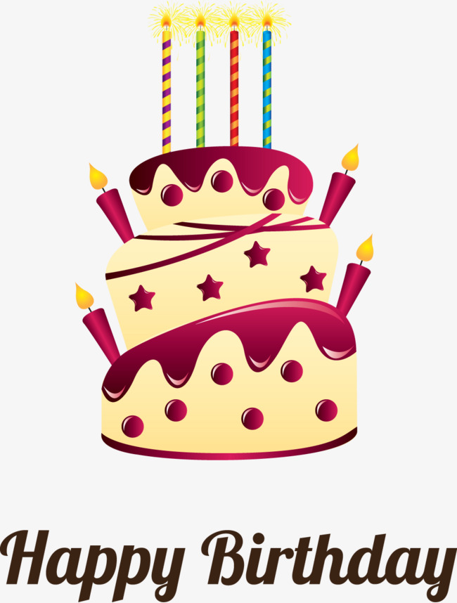 650x858 Birthday Cake Vector Material, Cake Clipart, Creative Cakes, Cake