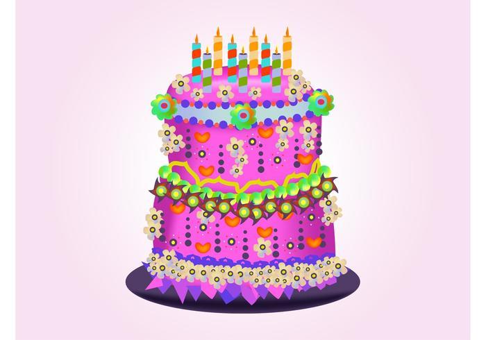 700x490 Birthday Cake Vectors