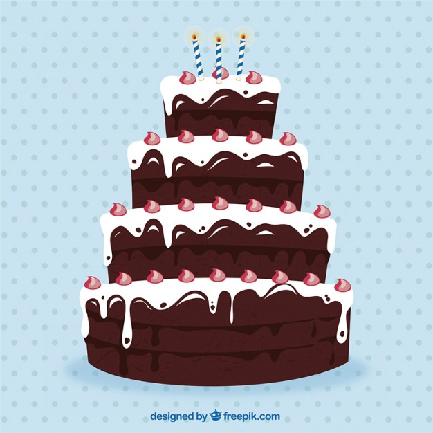 Birthday Cake Vector Free