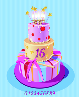302x368 Birthday Cake Free Vector Download 1656 For