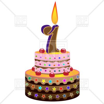 400x400 Birthday Cake With Candle Cakes Birthday Cakes