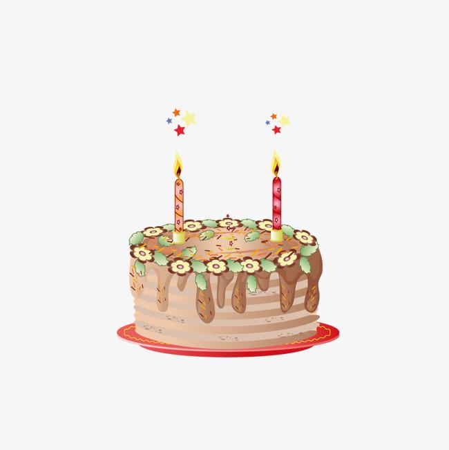 650x651 Cartoon Hand Painted Birthday Cake Vector Png, Cartoon Vector