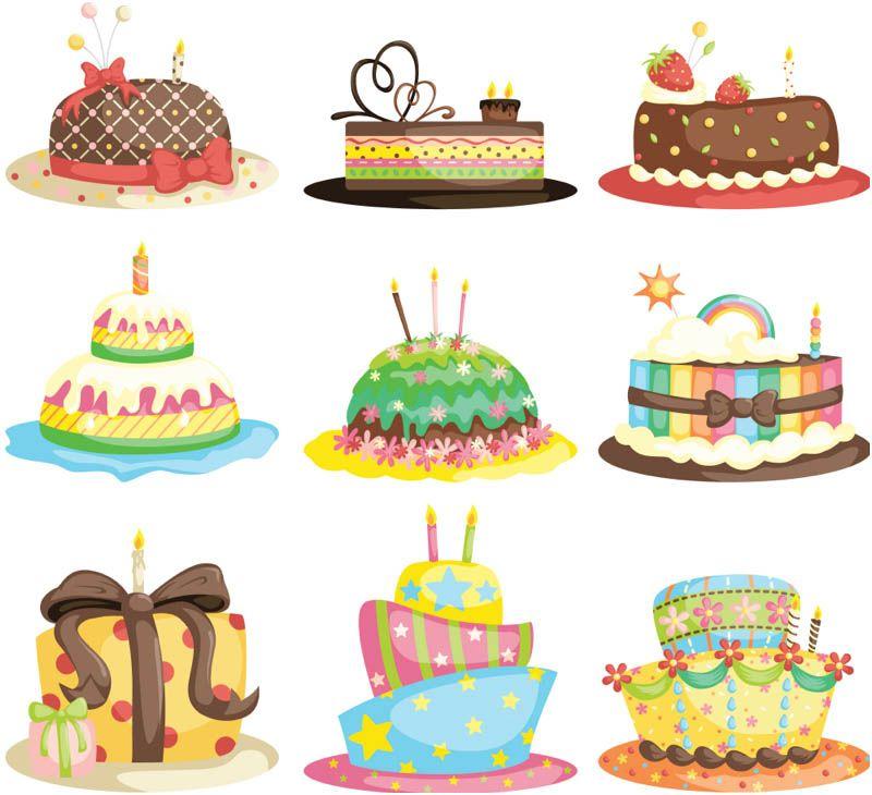 800x730 Cartoon Birthday Cake Vector Resources Vectors