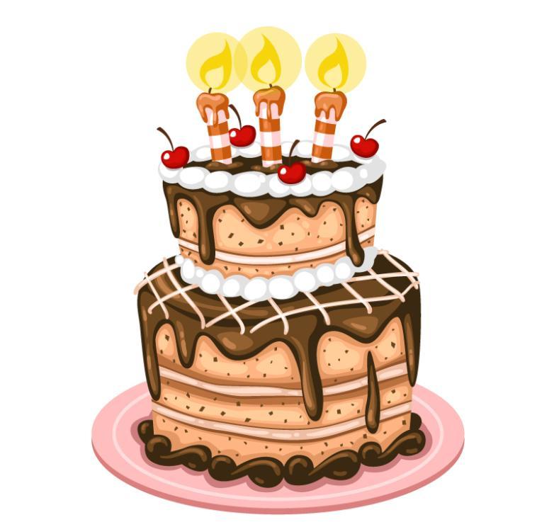 782x737 Delicious Chocolate Birthday Cake Vector Free Vector Graphic