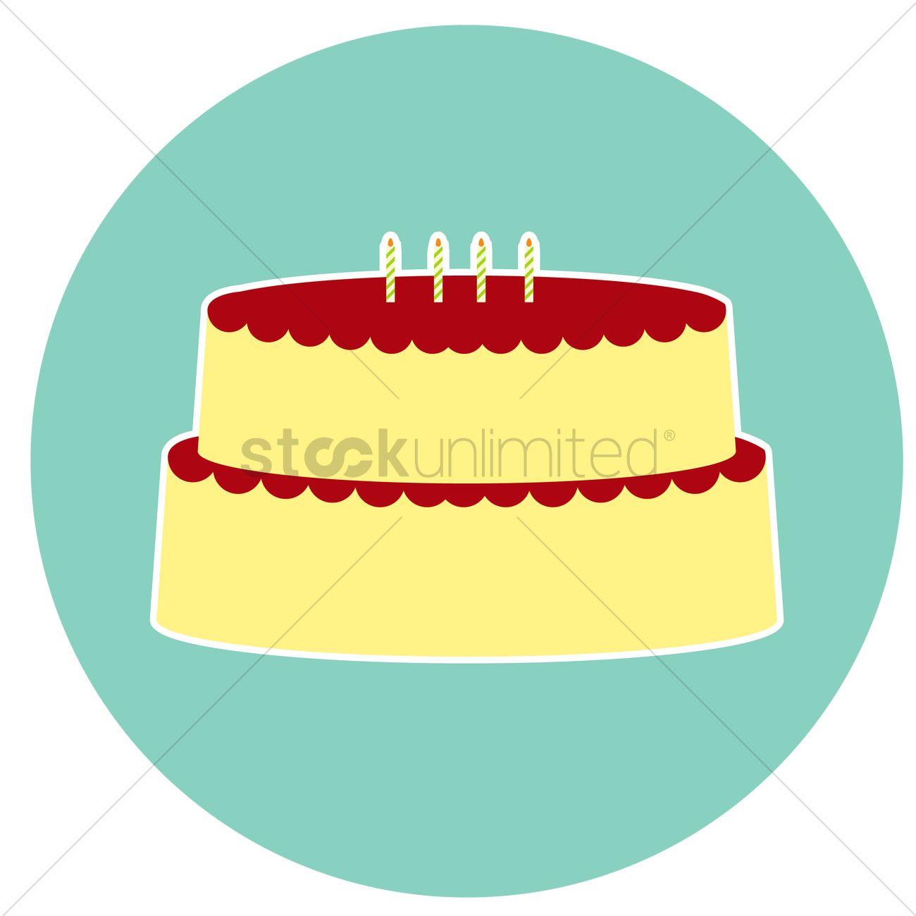 1300x1300 Free Birthday Cake Vector Image