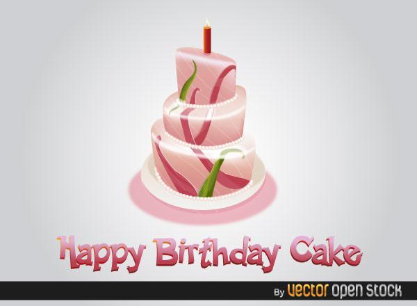 600x440 Free Happy Birthday Cake Vector 123freevectors