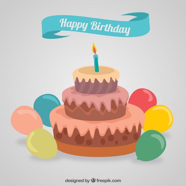626x626 Happy Birthday Cake Vector Free Download