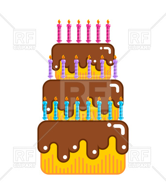 342x400 Happy Birthday Cake Vector Image Vector Artwork Of Food And
