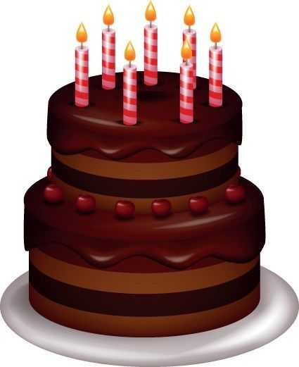 425x521 Set Of Birthday Cake Vector 05 Food Art Awesome Of