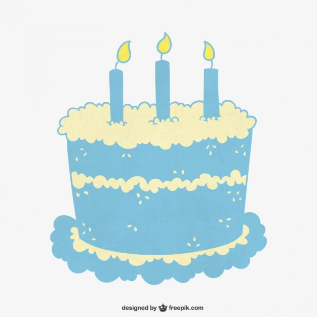 626x626 Turquoise Birthday Cake Vector Free Download