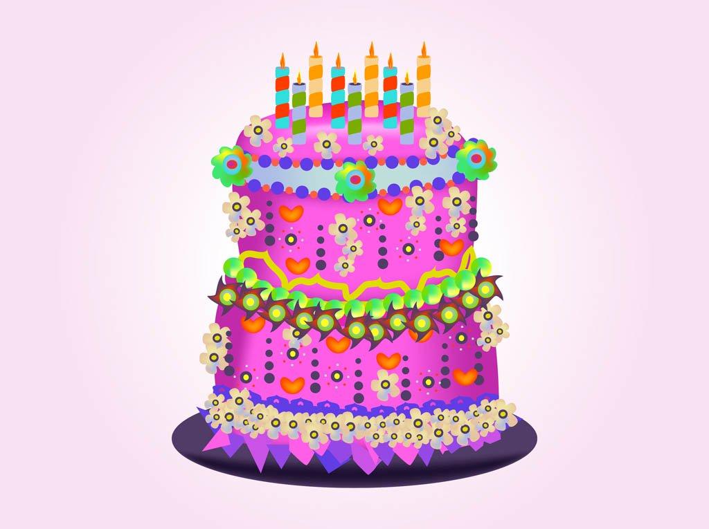 1024x765 Birthday Cake Vector Vector Art Amp Graphics