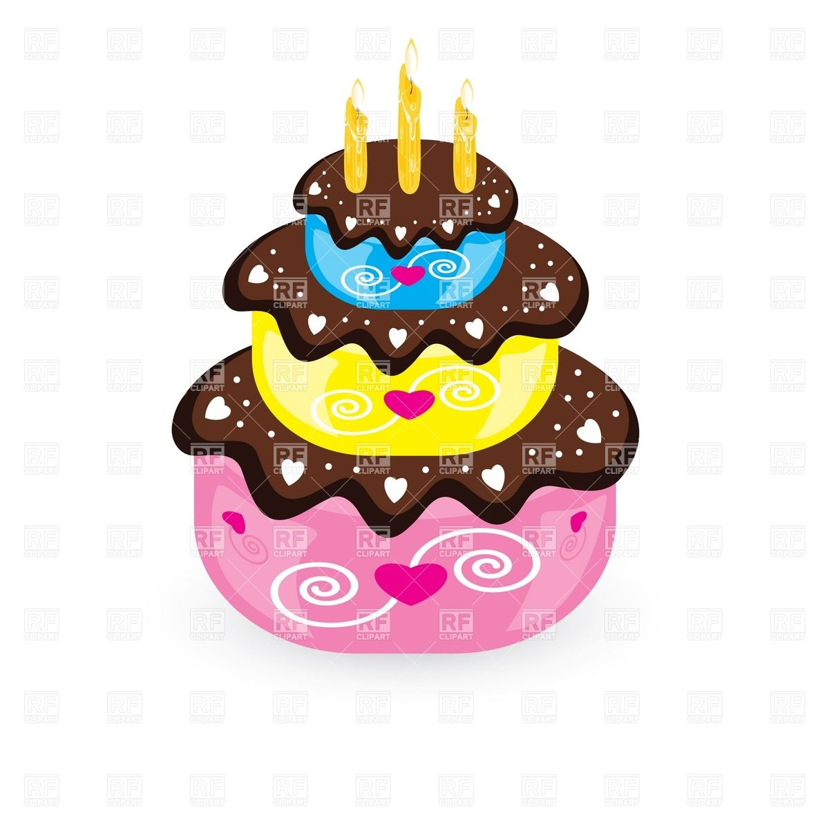 1200x1200 Birthday Cake And Candle Vector Image Vector Artwork Of Food And