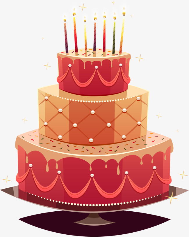 650x813 Birthday Cake Vector Image, Birthday Vector, Cake Vector, Layer