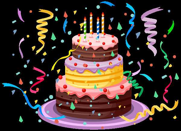 600x434 Birthday Cake With Confetti Png Clipart Picture Lovely Of Birthday
