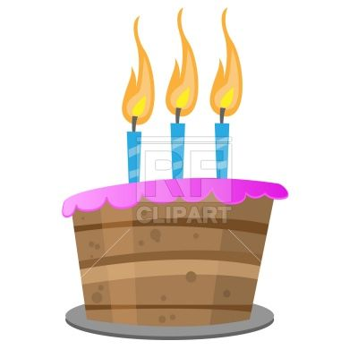 400x400 Birthday Cake With Candles, 871, Download Royalty Free Vector