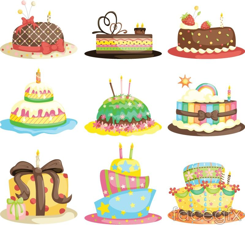 800x735 Cartoon Birthday Cake Vector Design Birthday Cakes