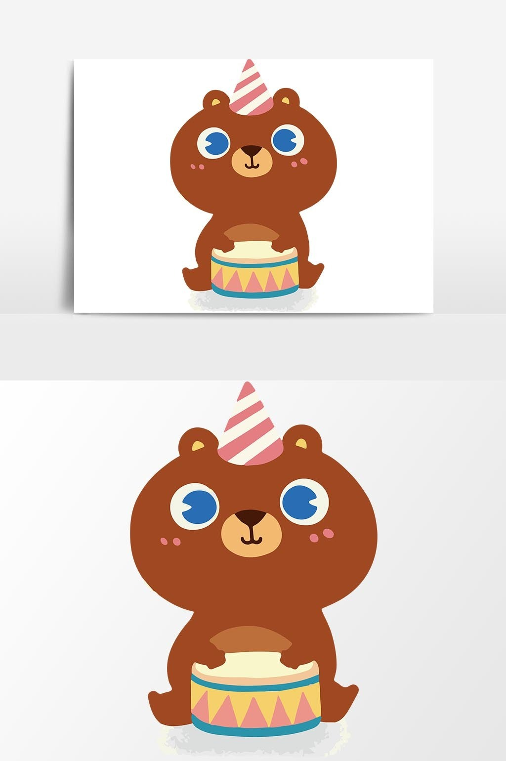 1024x1540 Cartoon Cute Bear Birthday Cake Vector Element Free Download Pikbest