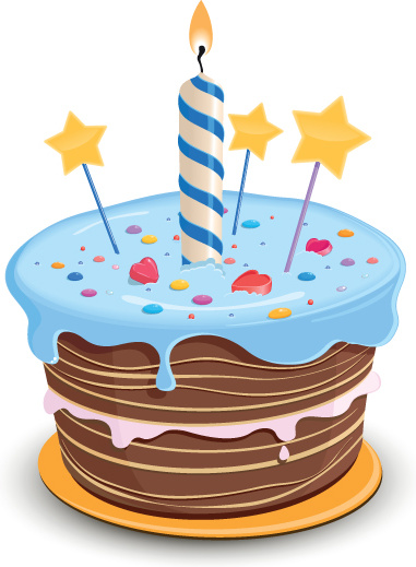 381x519 Set Of Birthday Cake Vector Free Vector In Encapsulated Postscript